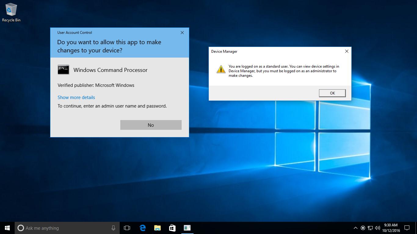 Lỗi tài khoản đang sử dụng trên Windows 10 bị mất quyền quản trị viên và cách fix