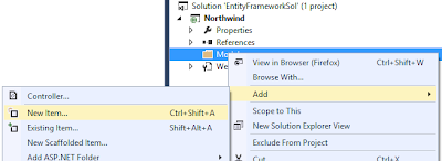 New Item Visual Studio