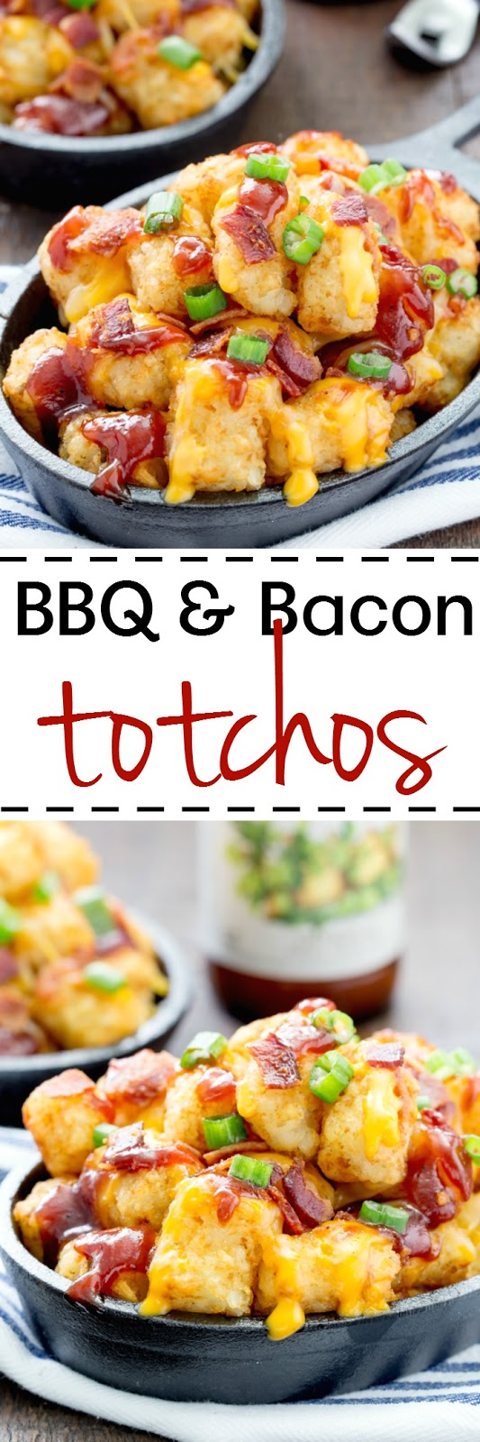 Cheesy BBQ and Bacon Totchos