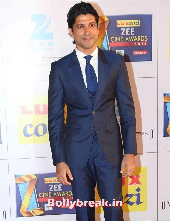 Farhan Akhtar, Zee Cine Awards 2014 Red Carpet Pics
