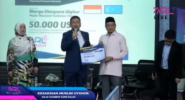 Meski Ditindas China, Muslim Uighur Bantu Korban Tsunami Selat Sunda 50.000 USD