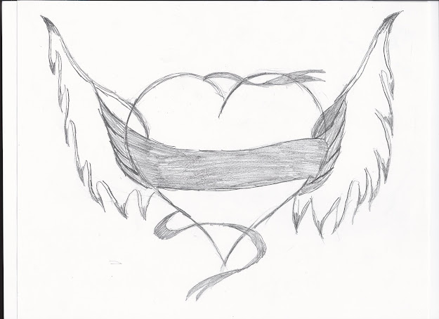 Heart With Wings Drawing Home   Nov   With Amazing Hearts  With Wings Coloring
