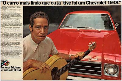 propaganda Chevrolet com o cantor Orlando Silva, propaganda Chevrolet Opala - 1975, Opala 75, GM anos 70, Chevrolet década de 70, carros Chevrolet anos 70, Oswaldo Hernandez, cantor Orlando Silva, General Motors 50 anos de Brasil,