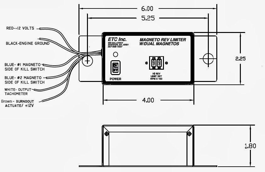 ETC Rev Limiters: High-Range Rev Limiter (12 Volts) with