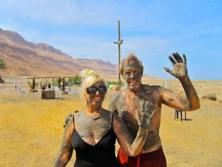 Pat Wayne Dunlap Dead Sea Mud Ein Gedi Spa Israel