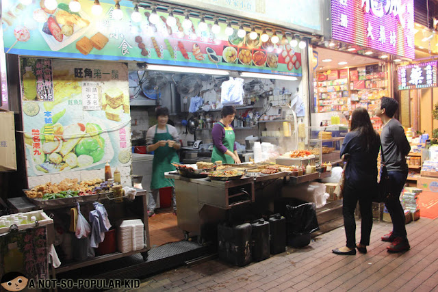 Street Food at Night in Mong Kok, Hong Kong