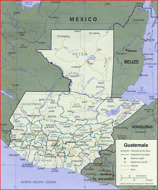 Gambar Peta politik Guatemala