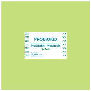 Probiokid : Probiotik, Prebiotik Serbuk
