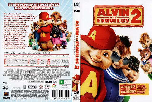 Capa DVD Alvin e os Esquilos 2 (Alternativa)