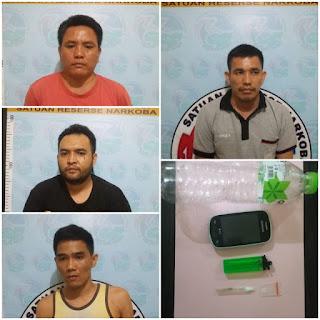 Asyik Nyabu, 4 Warga Binaan Lapas Sekayu Ditangkap