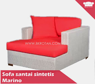 Sofa santai rotan sintetis rotan plastik