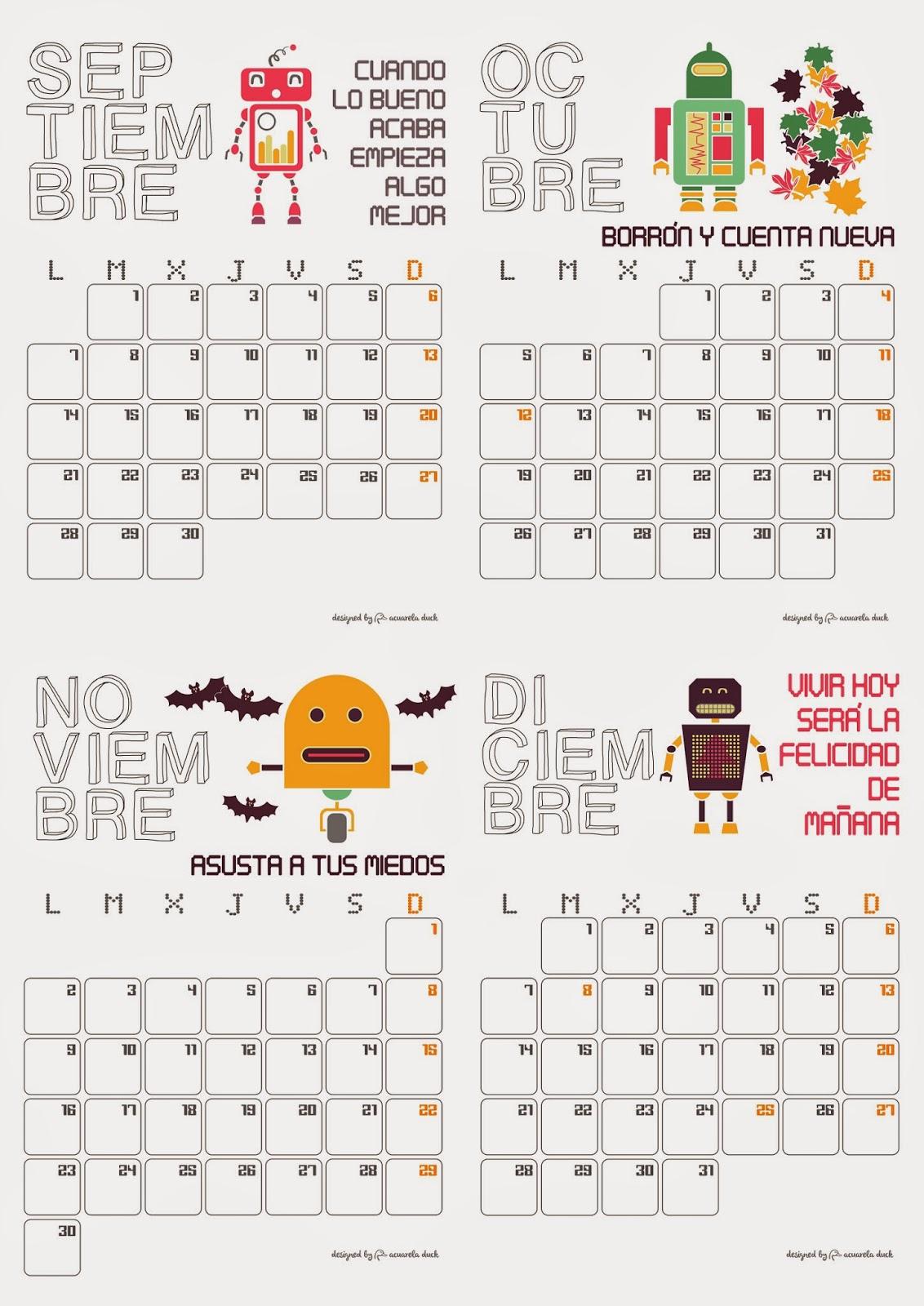calendario original 2015