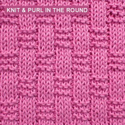 Joining Stitches When Knitting In The Round : Basket weave Ribbing - knitting in the round Knit - Purl stitches
