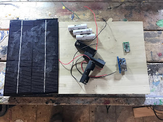 Parts needed to build the solar cell charger