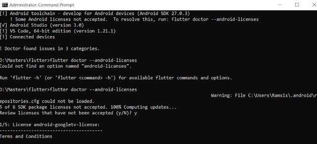 Rahmat Siswanto - Flutter android licenses