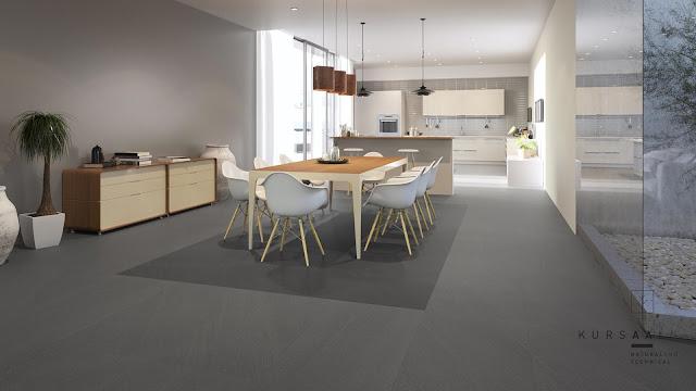 Outside floor tiles design Kursaal series for kitchen