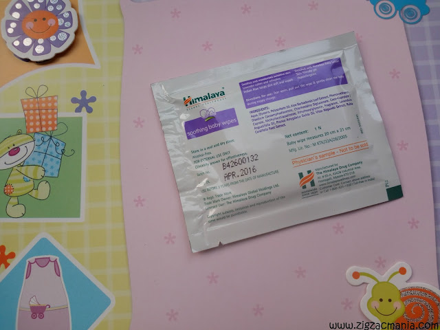 Himalaya Soothing Baby wipes - Back View