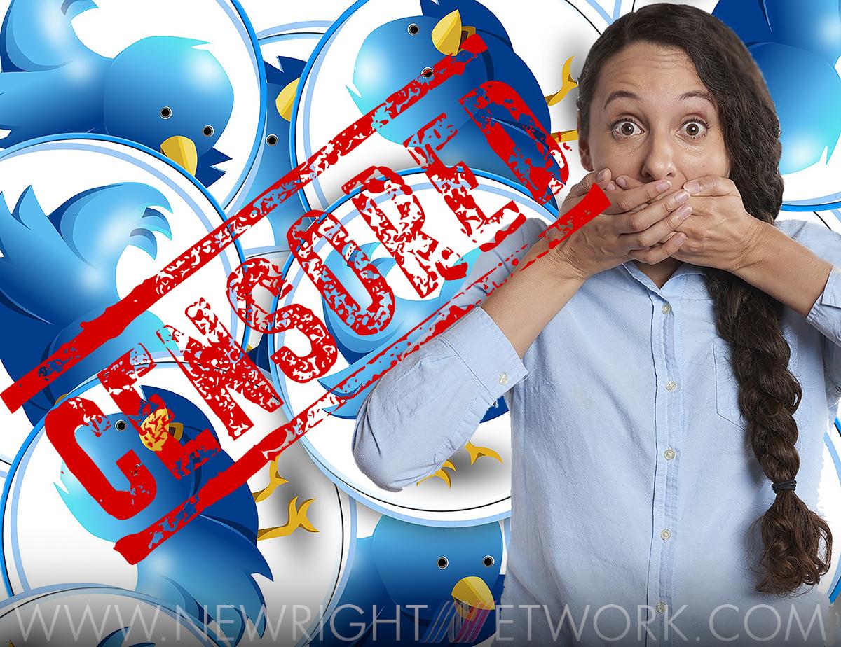 Twitter censorship, Girl holding hand over mouth