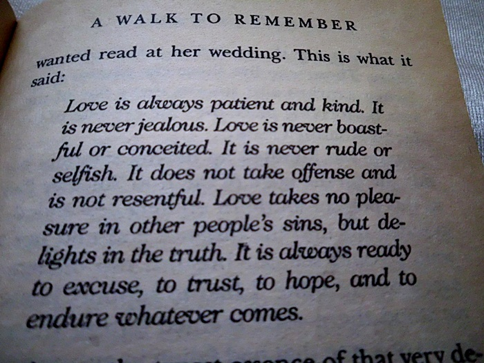 From My Beautiful Mind: A Walk to Remember