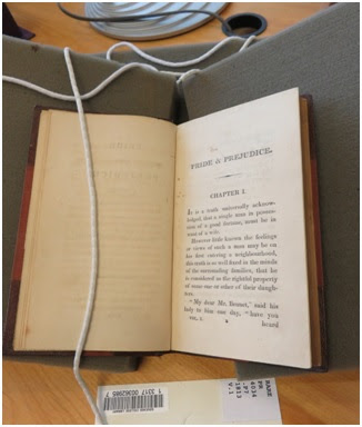 "Goucher College's first edition of ""Pride and Prejudice."""