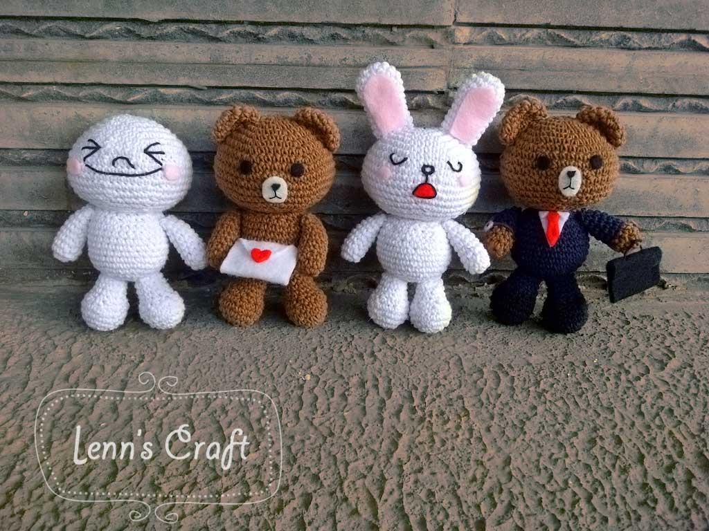 Amigurumi Boneka : Lenn s craft handmade doll amigurumi line doll by lenn s