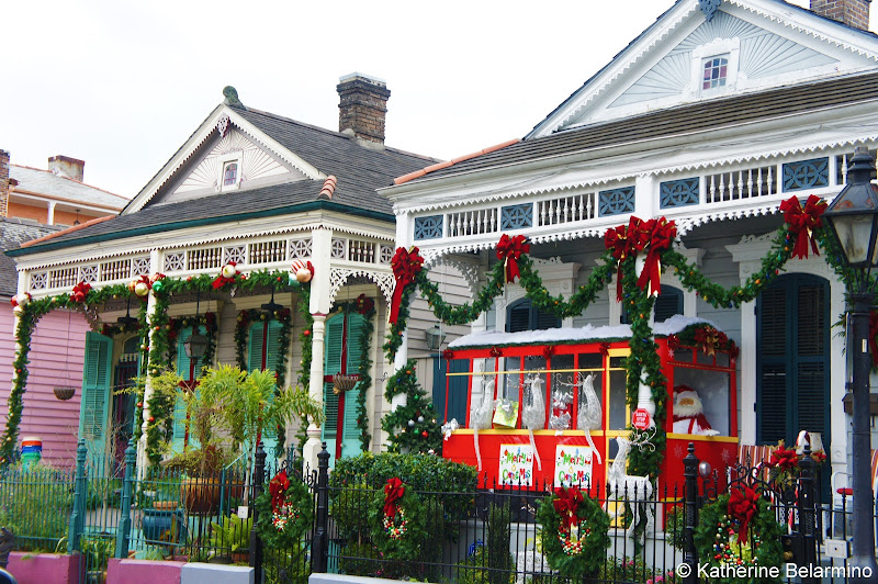 New Orleans Streetcar Christmas Decorations