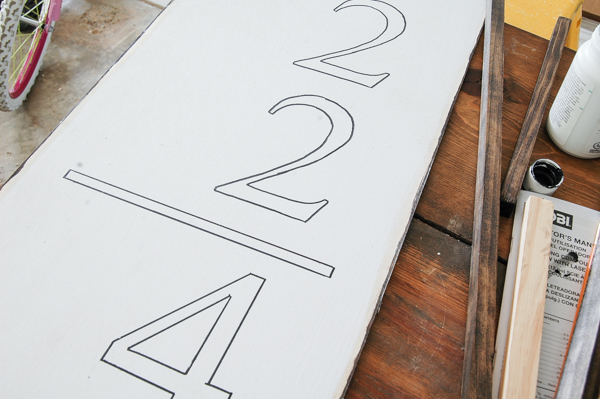 Traced numbers for DIY handmade wall art