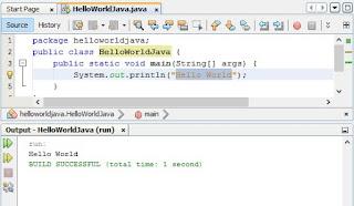 Tutorial Java : Program 'Hello World' Menggunakan Java