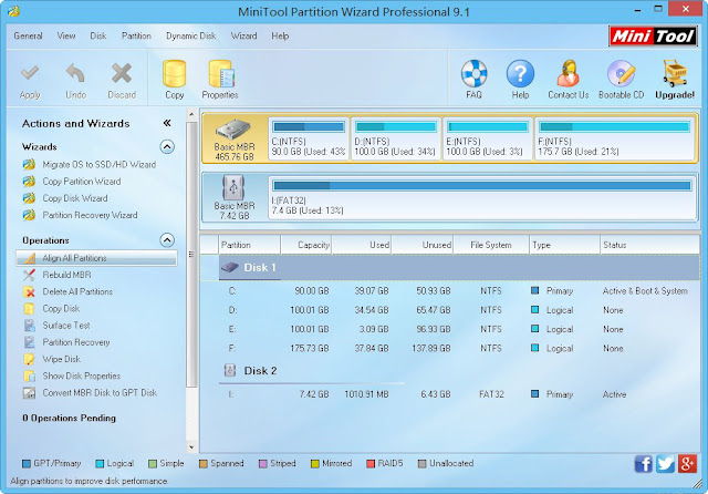 Download 2 Software untuk Partisi Harddisk, MiniTool Partition 9.1 dan AOMEI Partition 6 | Rey ...
