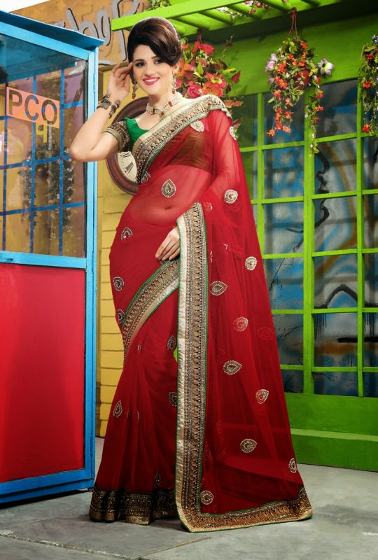 Net fabric saree