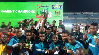 Nigerian football,tball, NPFL Super 4, Alonge Akinlolu,New Media Journalists congratulate Super 4 champions Rivers United