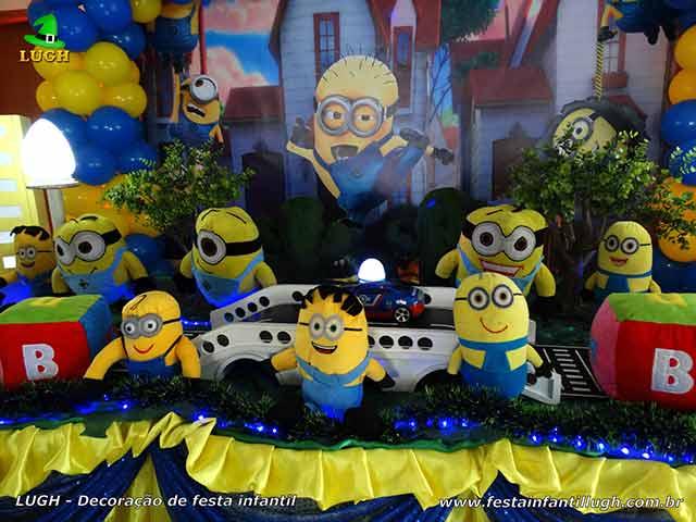 Mesa de festa infantil Minions