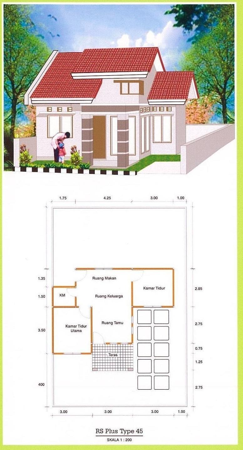 109 Gambar Rumah Minimalis Sederhana Ukuran 6x7 Gambar Desain