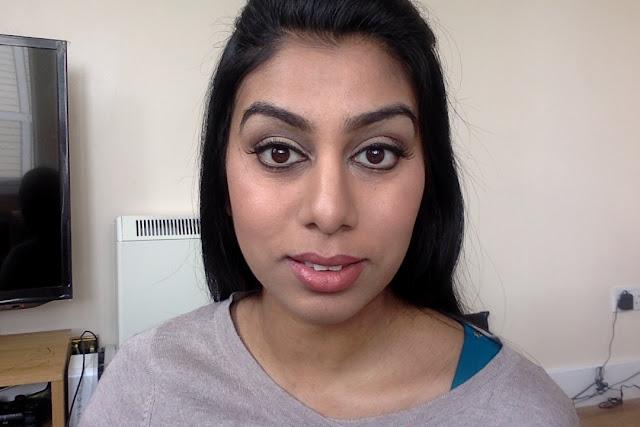 Gold-brown makeup for Asian/brown skin