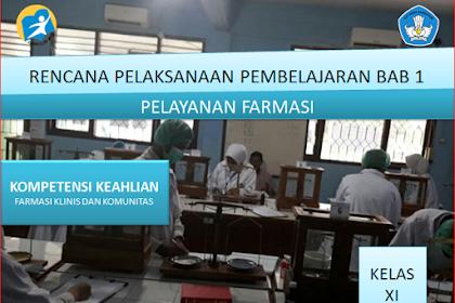 RPP Pelayanan Farmasi Kelas XI SMK/MAK Kurikulum 2013 Revisi 2018 Semester Ganjil