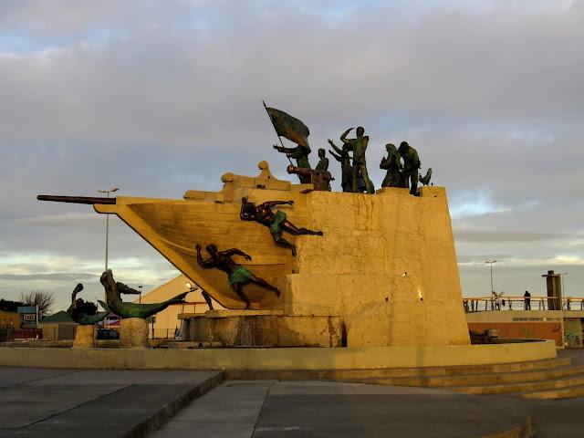 War memorial in Punta Arenas Chile