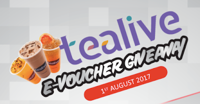 Tea Live E-Voucher Giveaway!