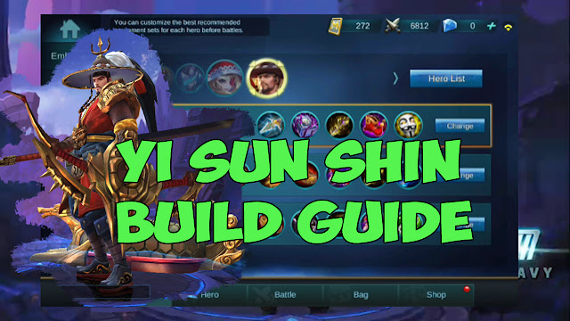 Yi Sun Shin Item Build.