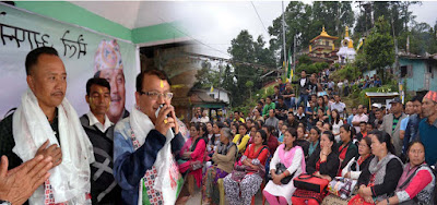 Morcha Victory Celebration in Mungpoo with Dr Rohit Sharma, Ratan Kr Thapa