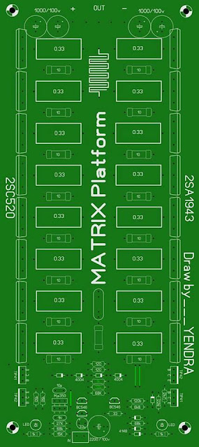PCB Power Amplifier 1000W Matrix Full