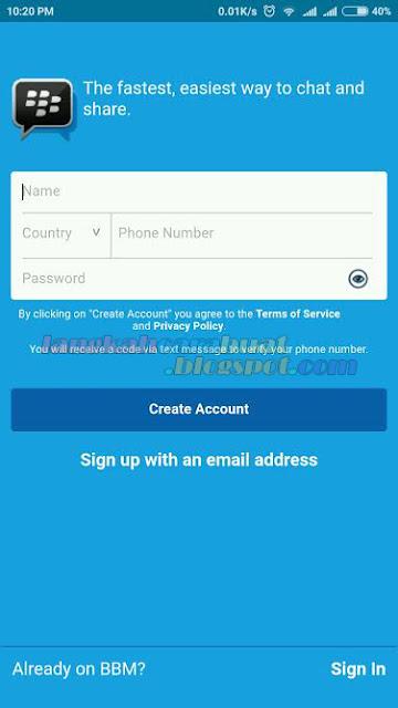Cara Bikin Email BBM