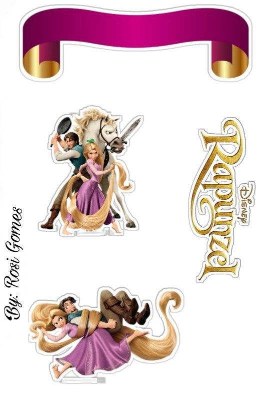 Rapunzel Free Printable Cake Toppers. - Oh My Fiesta! in ...