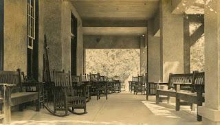 Kerrville's St. Charles Hotel veranda, around 1920.