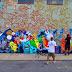 Artista pinta mural de Pokémon de 8 metros