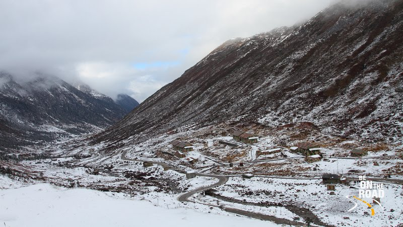 The winding and snowy roads of Sela pass, Arunachal Pradesh