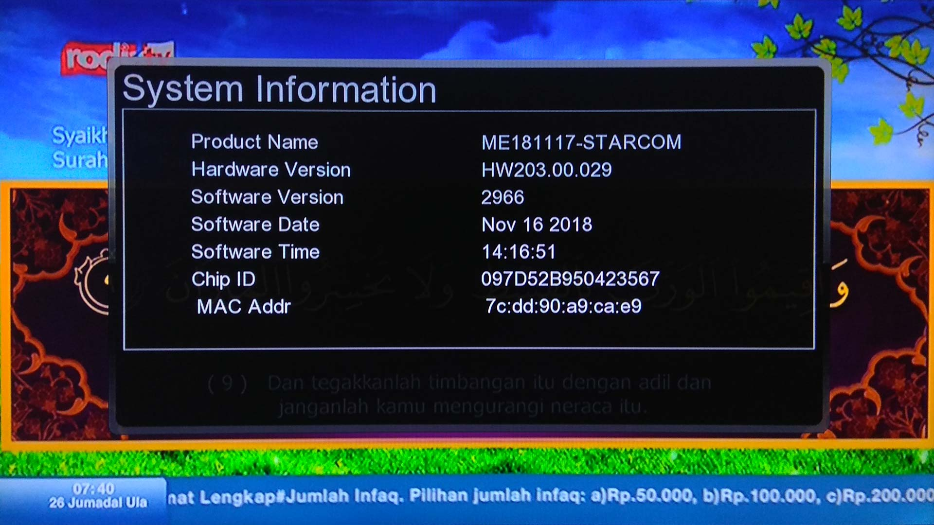 Download Software StarCom SC-6868 New Update Firmware Receiver