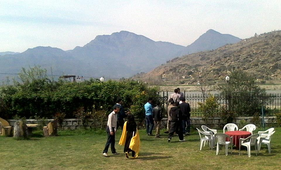 Swat River as seen from the lawn of PTDC Motel & Restaurant Chakdarra (Malakand-Saidu Road). Pakistan