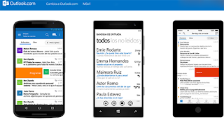 Iniciar sesion Outlook en Moviles