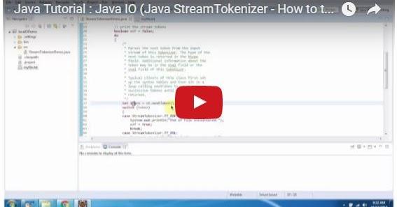 Java ee java tutorial java io java streamtokenizer for Pool design pattern java
