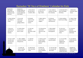 Busy Hands Ramadan Kindness Calendar For Kids Free Printable